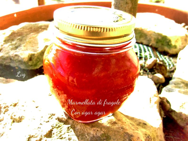 Marmellata di fragole, con agar agar