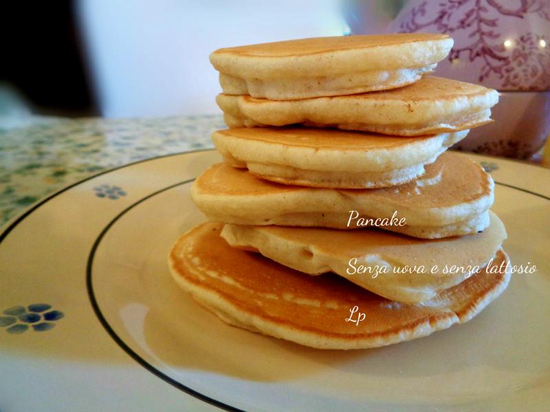 Pancake, senza uova e senza lattosio
