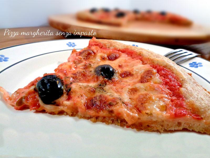 Pizza margherita senza impasto