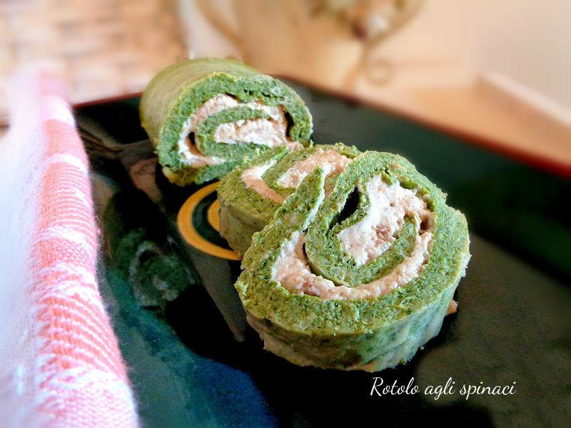 Rotolo agli spinaci farcito