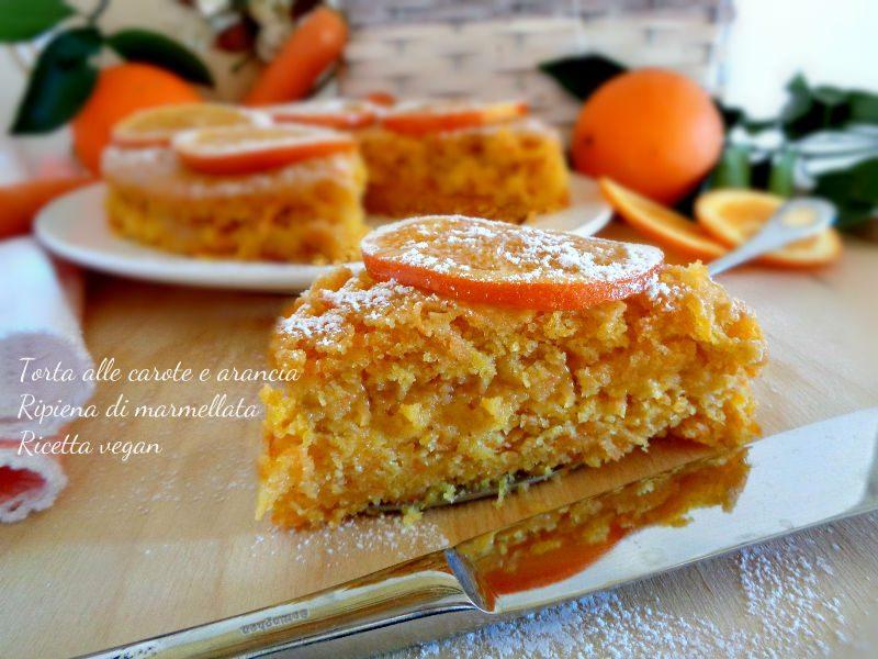 Torta alle carote e arance