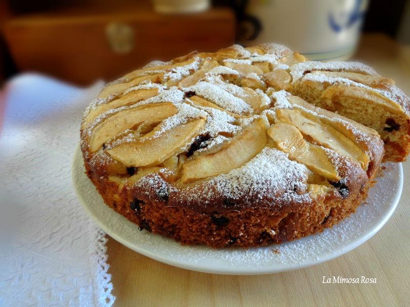 Torta di mele e cioccolato con sciroppo d'agave ricetta