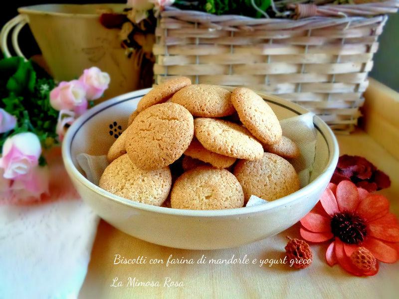 Preferenza Biscotti con farina di mandorle e yogurt greco | La mimosa rosa PT01