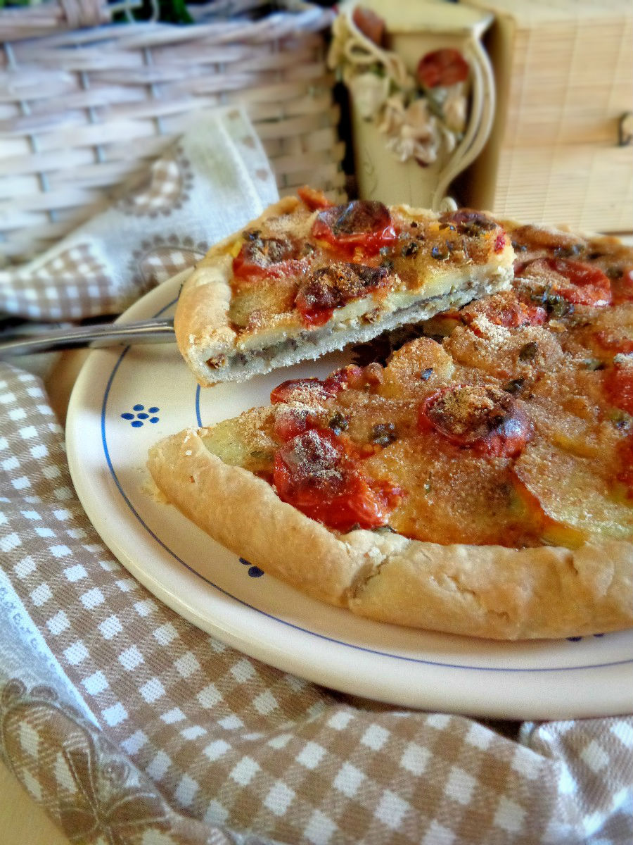 Torta salata con pasta frolla con olio ricetta