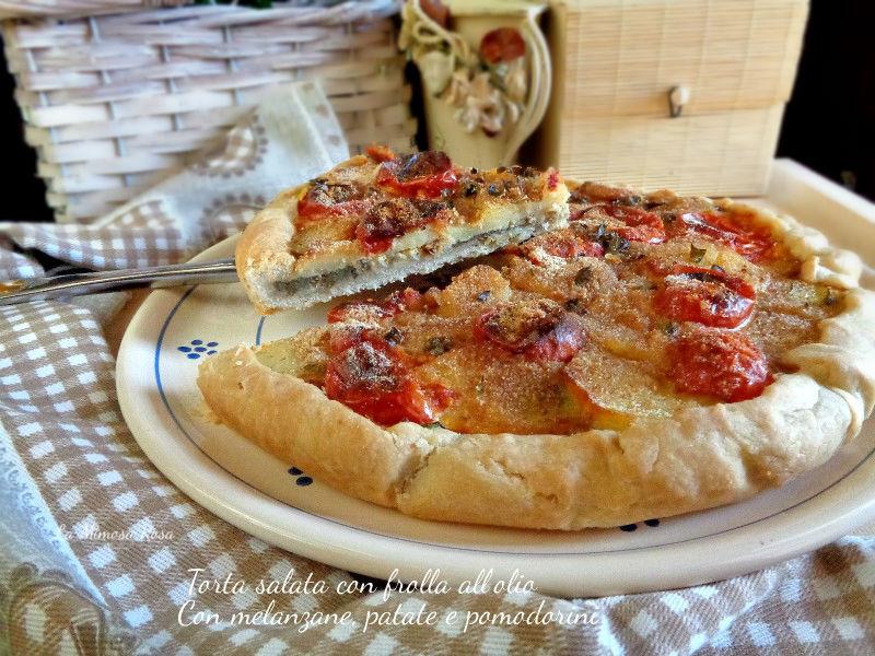 Torta salata con pasta frolla con olio
