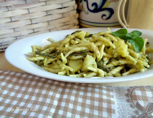 Trofie al pesto con patate e fagiolini