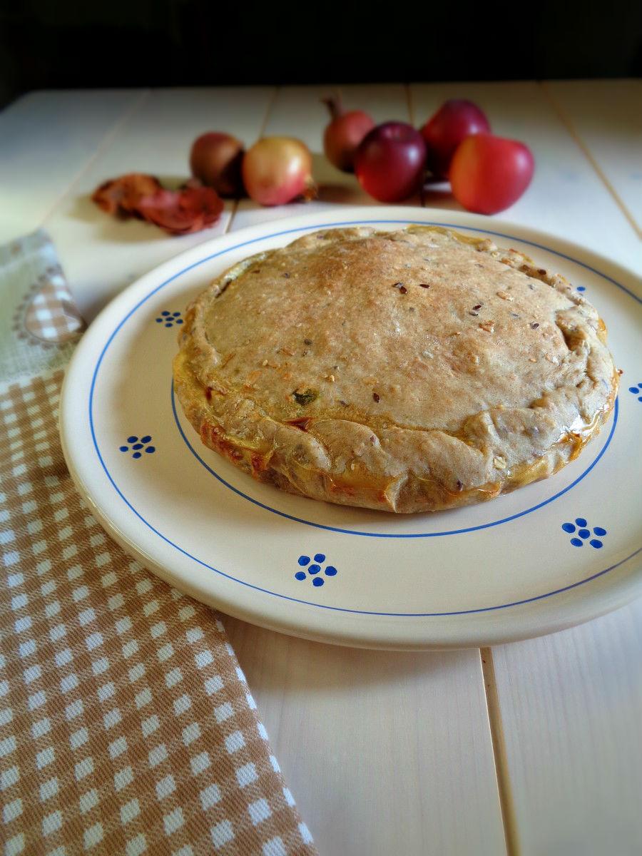 Torta salata con bietole e primo sa le