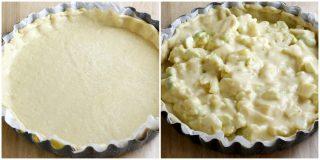 Torta salata con cavolfiore collage