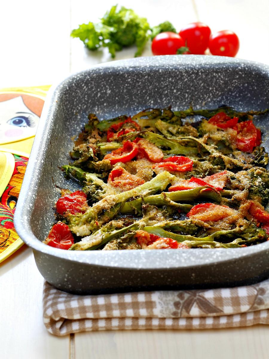 Cime di rapa al forno gratinate ricetta facilissima
