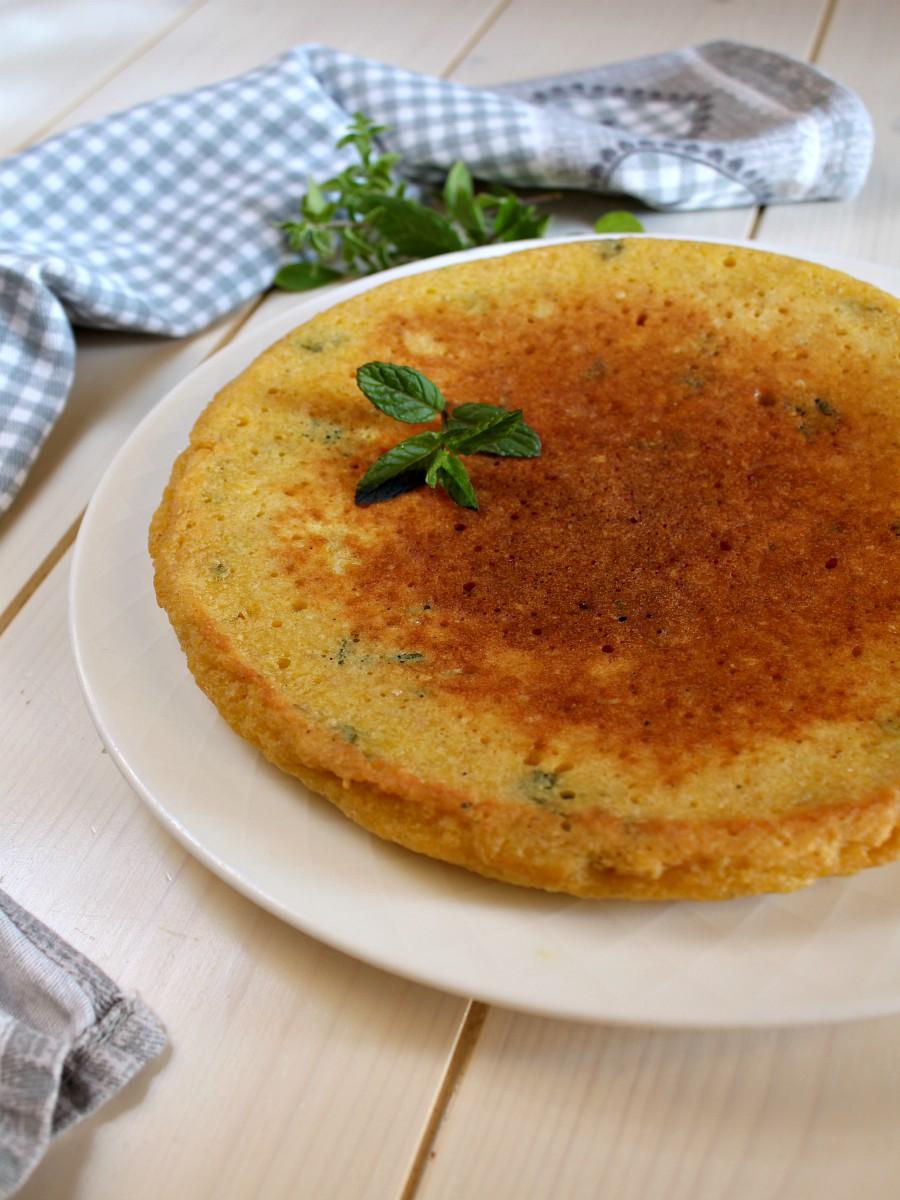 Frittata con pangrattato e menta ricetta