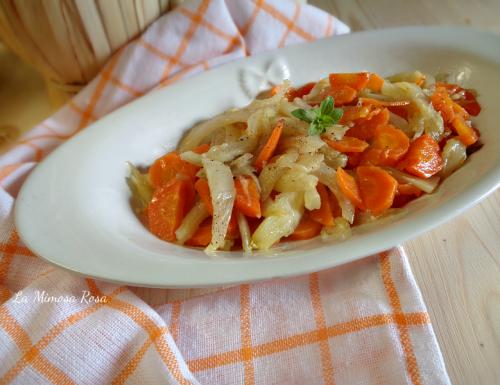Contorno delizioso di finocchi e carote