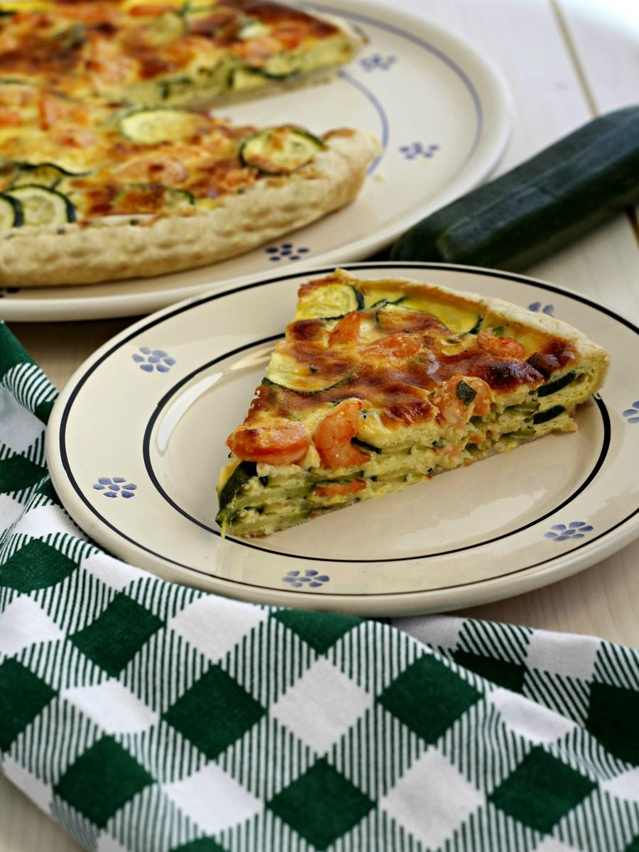 Torta salata con zucchine e gamberetti ricetta