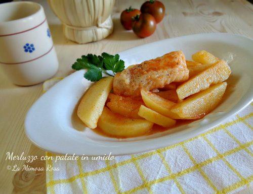 Filetti di merluzzo con patate e pomodorini