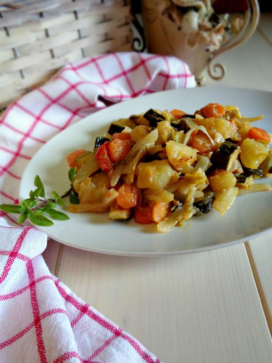 Verdure in padella con garam masala ricetta