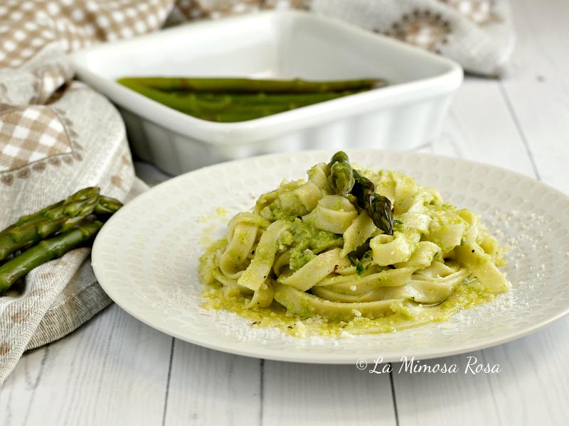 Pasta con crema di asparagi 2