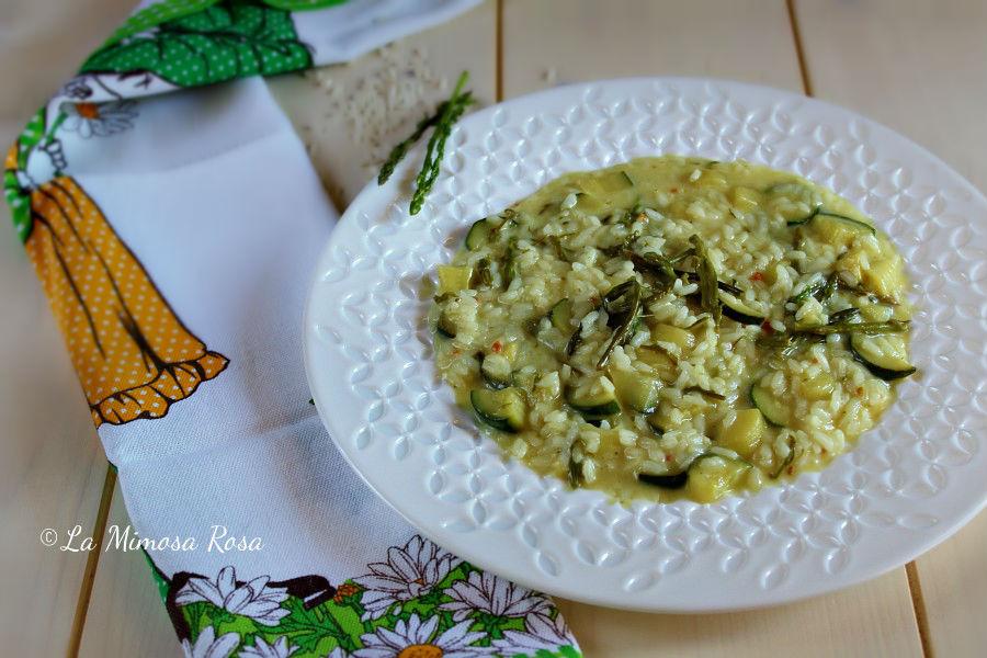 Risotto Asparagi Zucchine.Risotto Con Asparagi Selvatici Zucchine E Taleggio La Mimosa Rosa