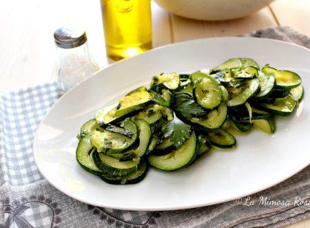 Zucchine trifolate al verde