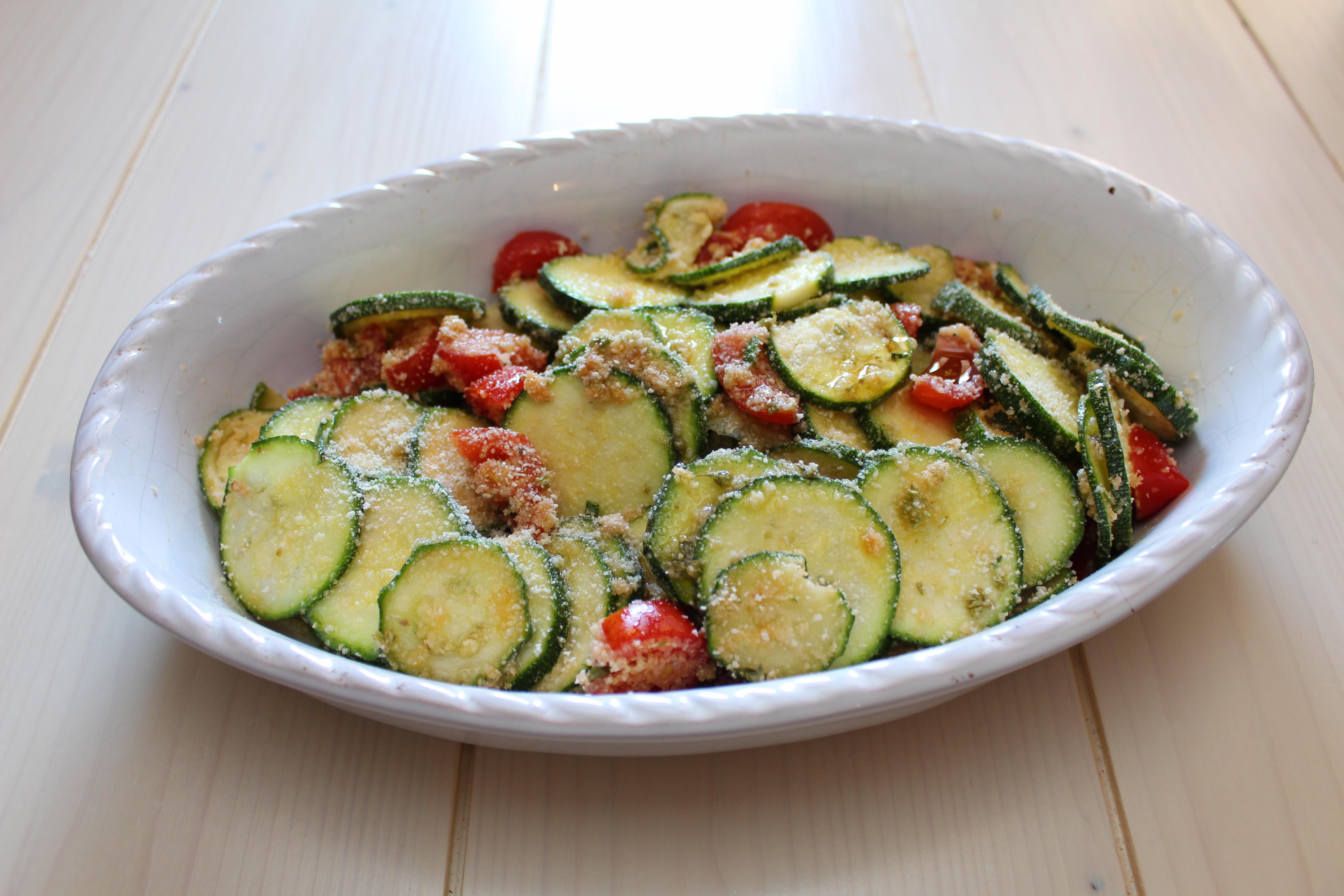 Zucchine gratinate con origano 2