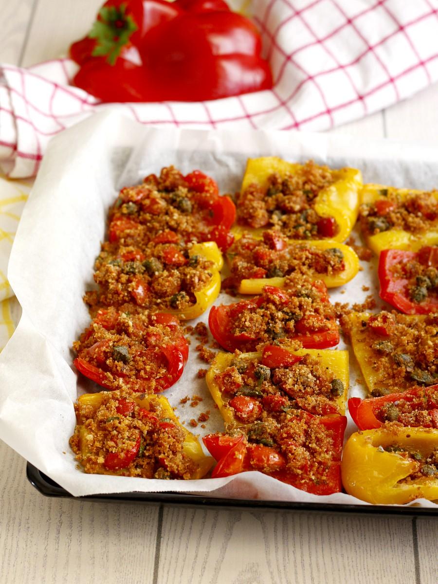 Peperoni gratinati al forno ricetta 1