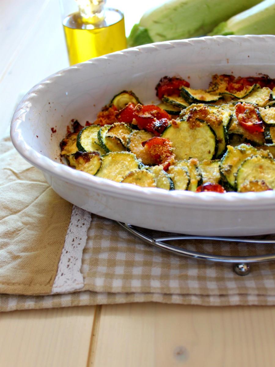 Zucchine gratinate con origano