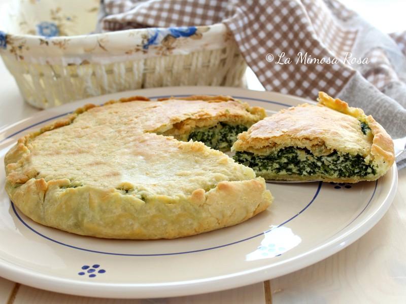 Quiche Ricotta E Spinaci Senza Uova.Torta Salata Ricotta E Spinaci Con Friabile Pasta Frolla All Olio