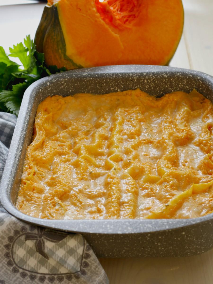 Lasagne con crema di zucca e Philadelphia ricetta