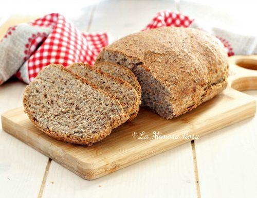 Pane di farro ai semi, impasto veloce