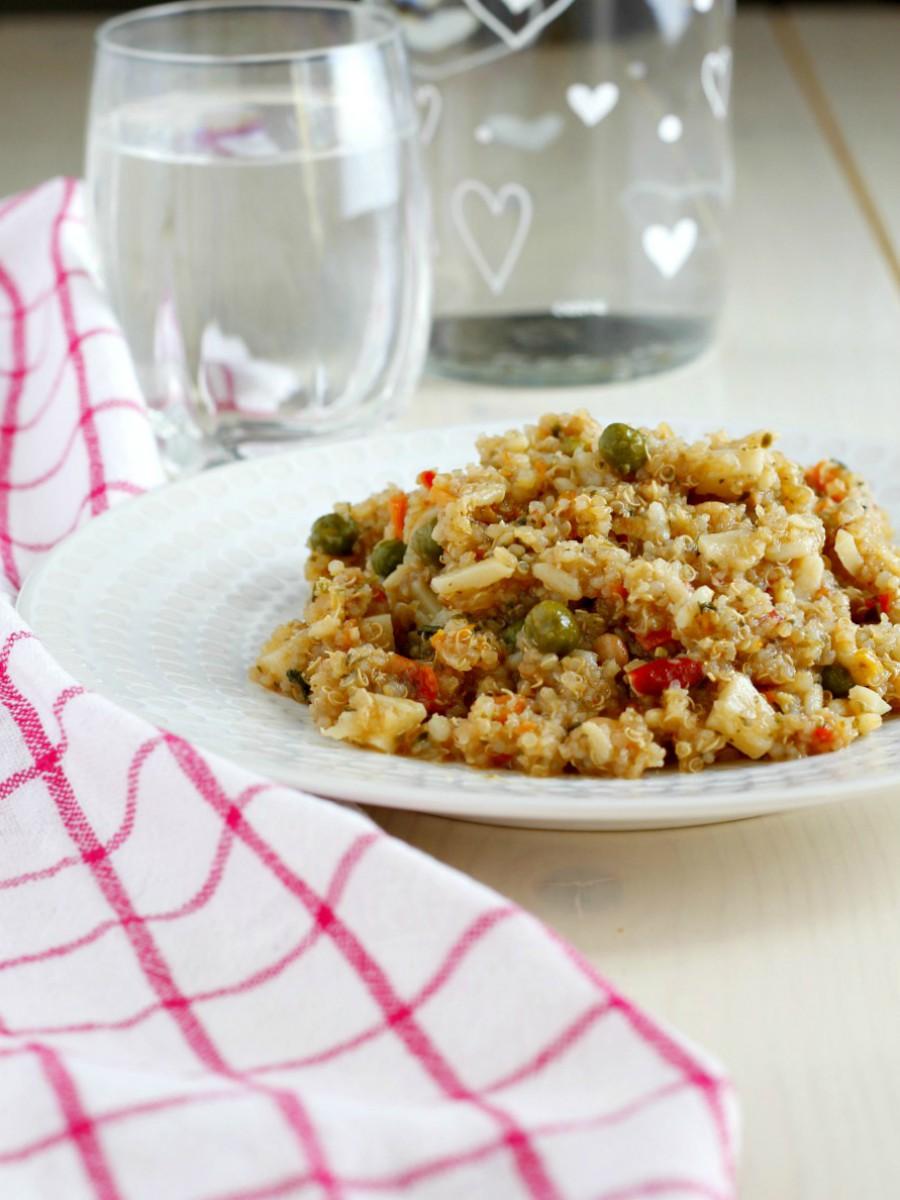 Quinoa con verdure ricetta