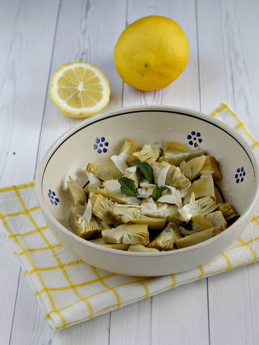 Carciofi al limone ricetta