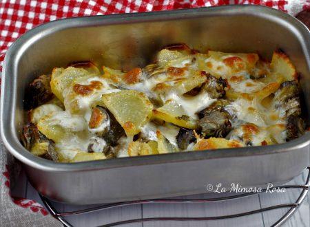 Pasticcio di patate e carciofi al forno