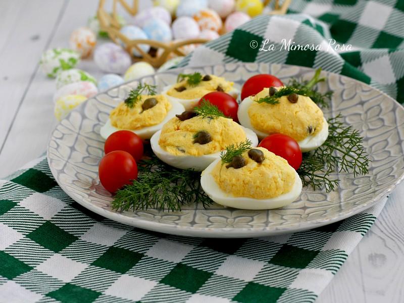 Uova ripiene vegetariane