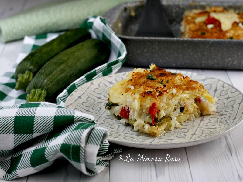 Riso patate e zucchine al forno 1