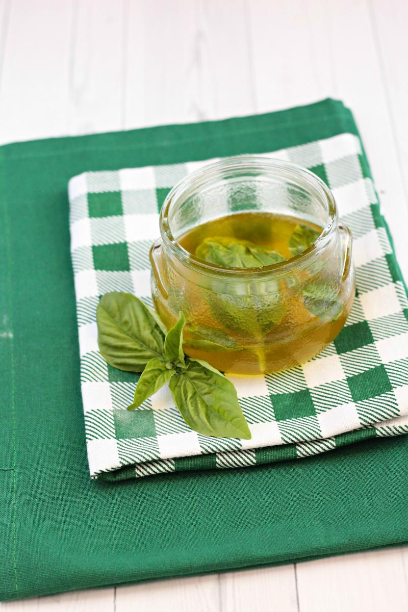 Olio al basilico ricetta