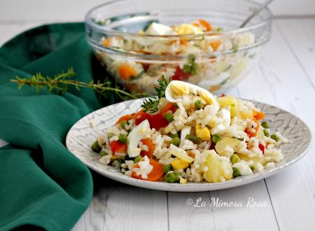Insalata di riso vegetariana