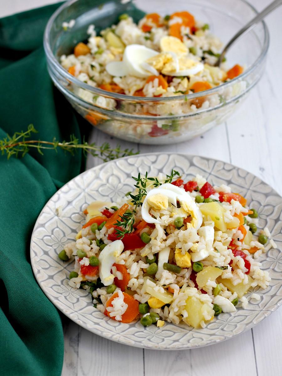 Insalata di riso vegetariana ricetta