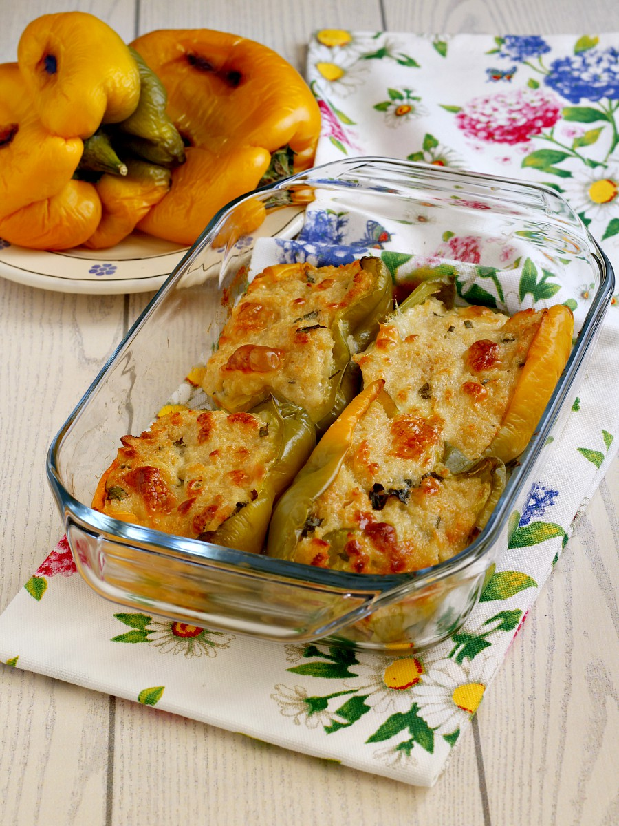 Peperoni ripieni vegetariani ricetta