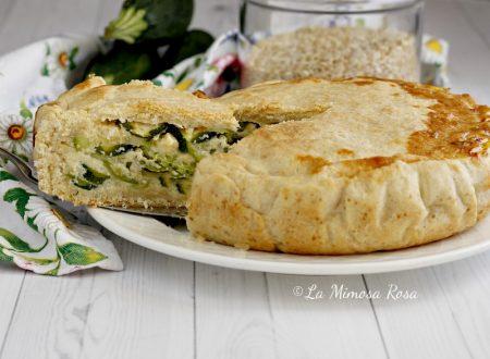 Torta verde ligure di riso e zucchine