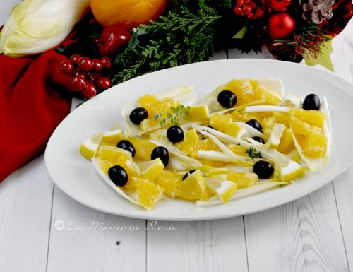 Insalata di arance indivia e olive nere