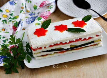 Torta tramezzino vegetariana