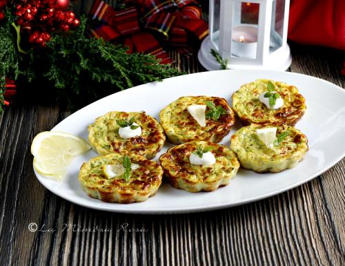 Tortine di zucchine per buffet e antipasti