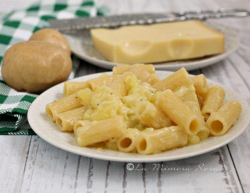 Rigatoni con patate ed Emmental