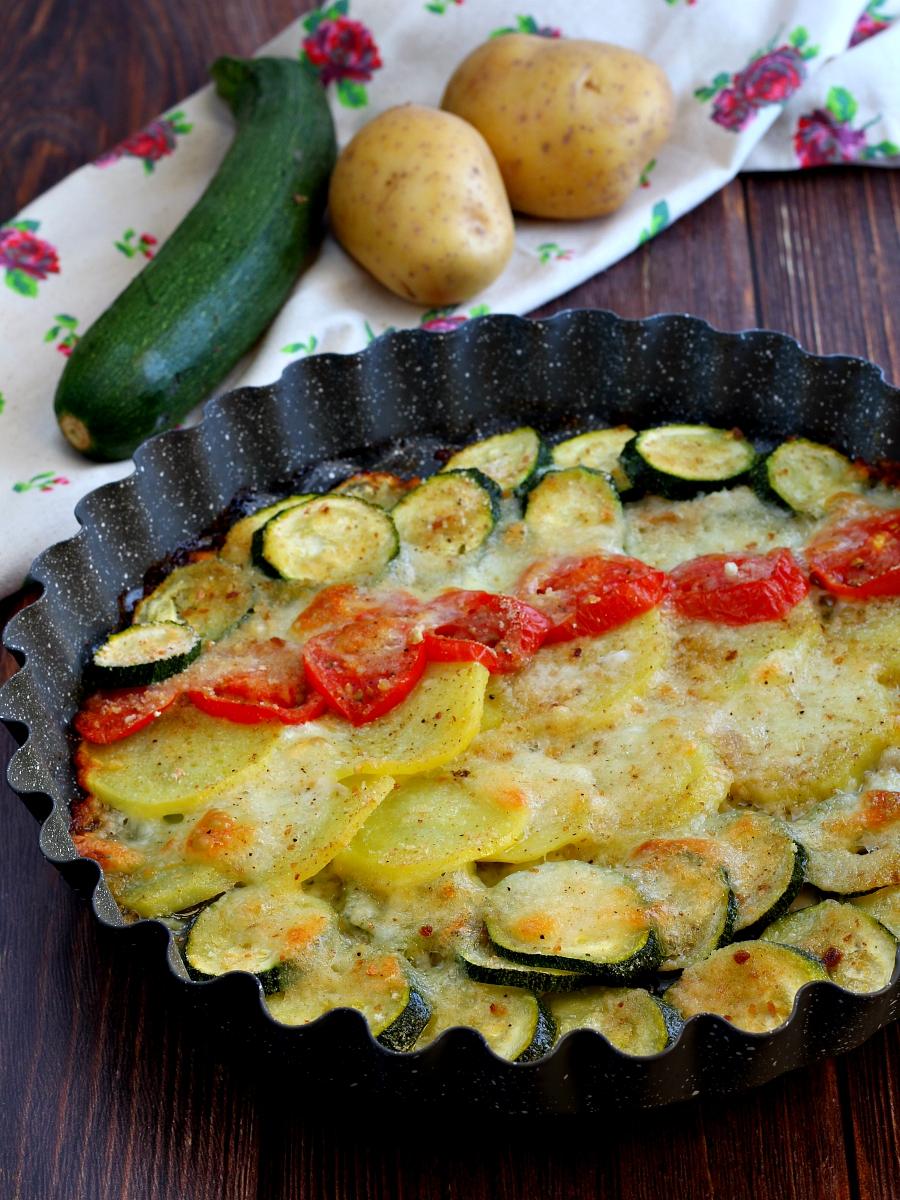 Verdure al forno con mozzarella ricetta