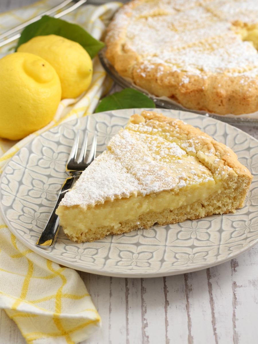 Crostata al limone deliziosa-