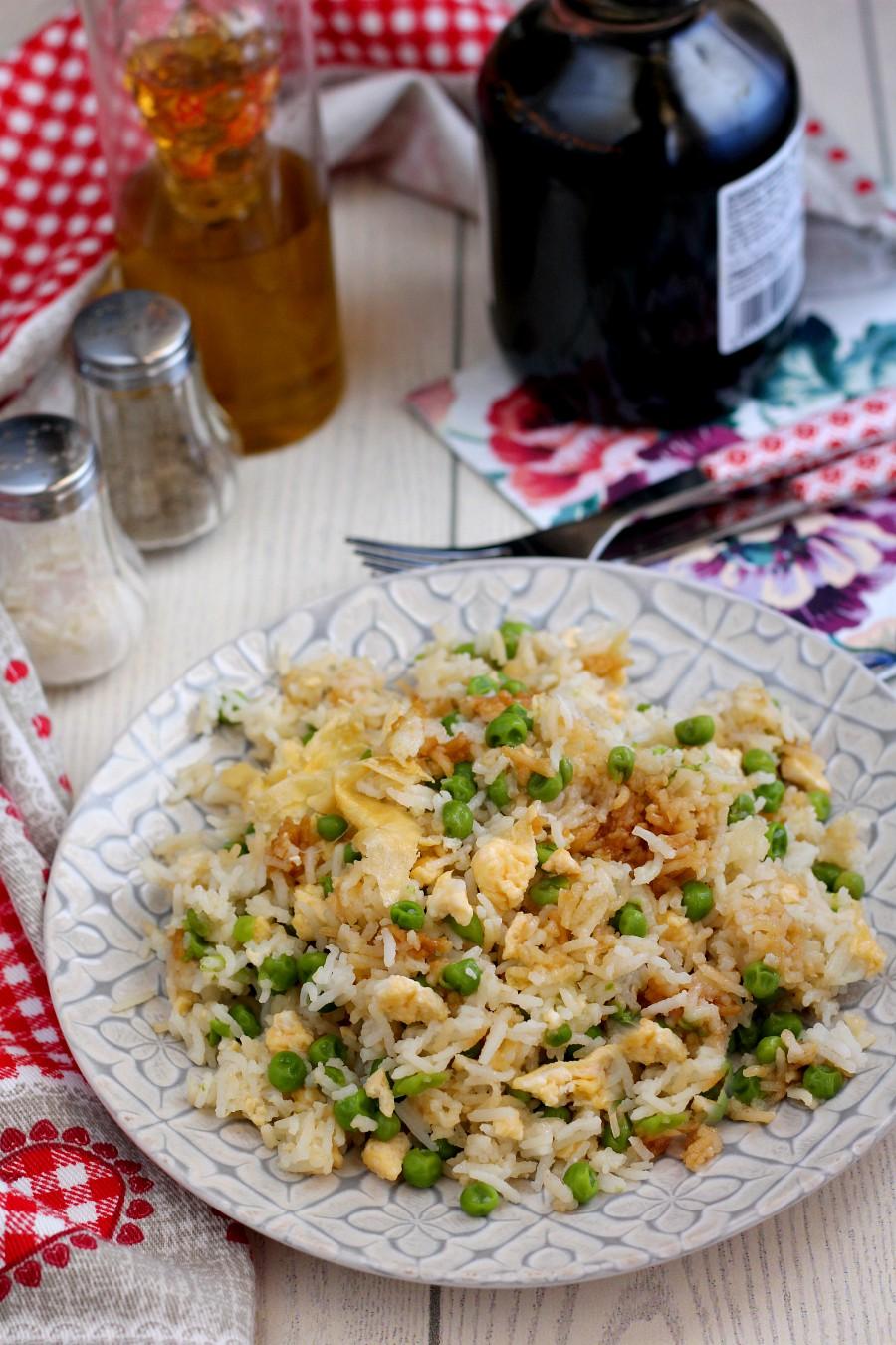 Riso alla cantonese vegetariano ricetta