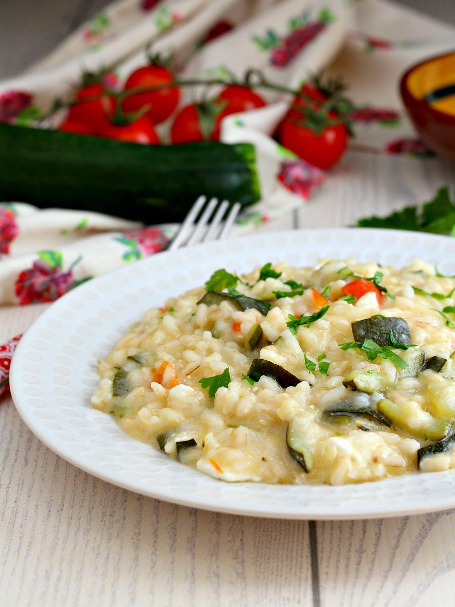 Risotto alle zucchine e stracchino ricetta