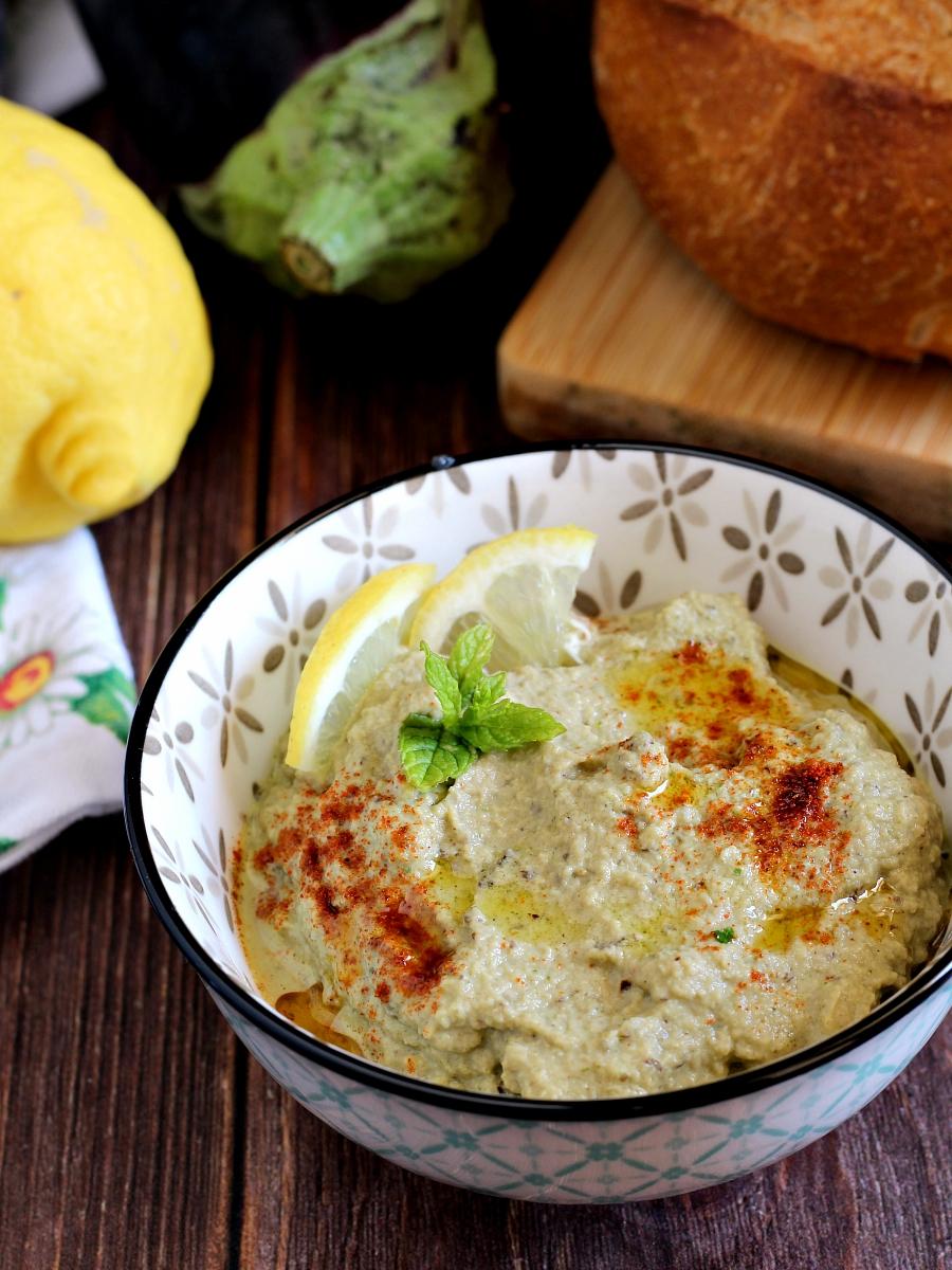 Babaganoush o crema di melanzane ricetta