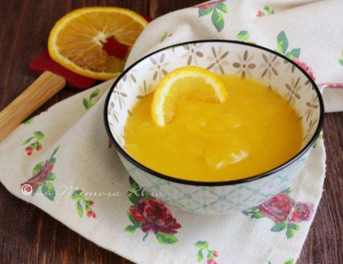 Crema all'arancia senza latte e senza uova