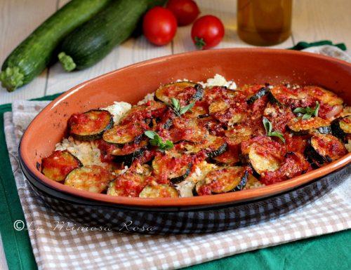 Zucchine e riso al forno gratinati