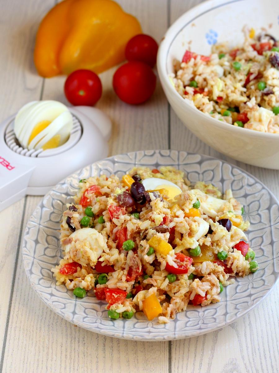 Insalata di riso senza condiriso ricetta