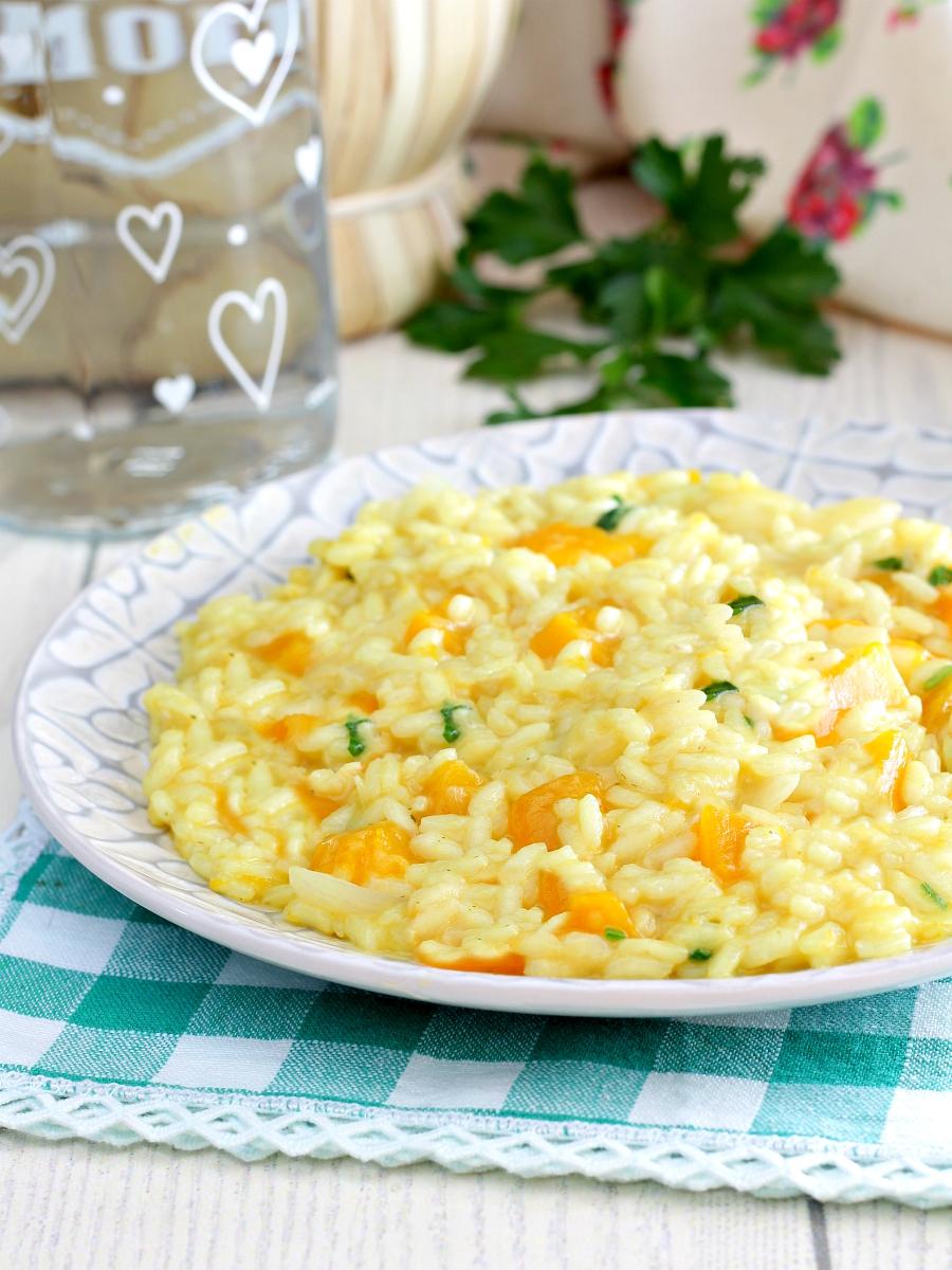 Risotto alla zucca e gorgonzola dolce ricetta